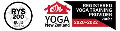 Image shows the Yoga Alliance logo for registered 200 hour yoga teacher training programs